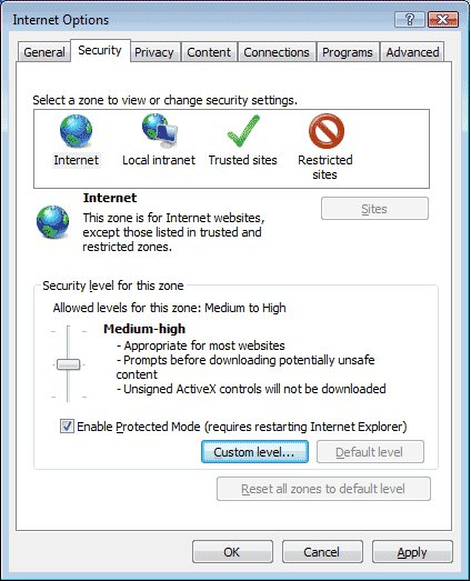Internet security level