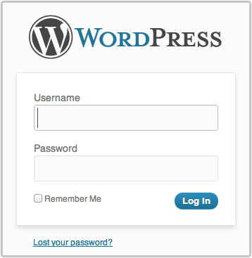 Image result for wordpress login