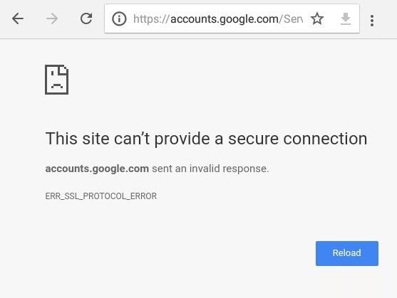 How To Fix Err Ssl Protocol Error For Google Chrome